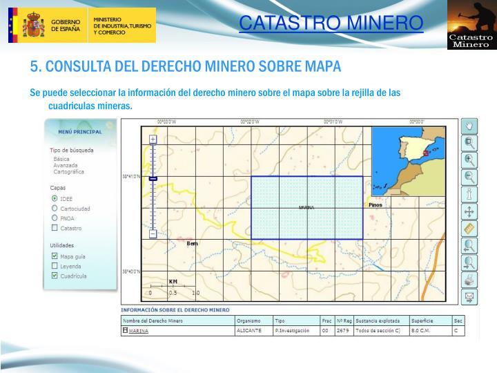 5. CONSULTA DEL DERECHO MINERO SOBRE MAPA