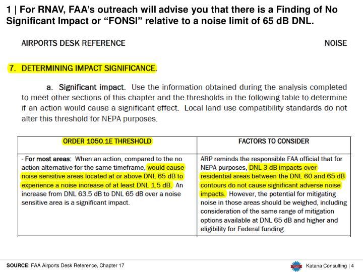 1 | For RNAV, FAA