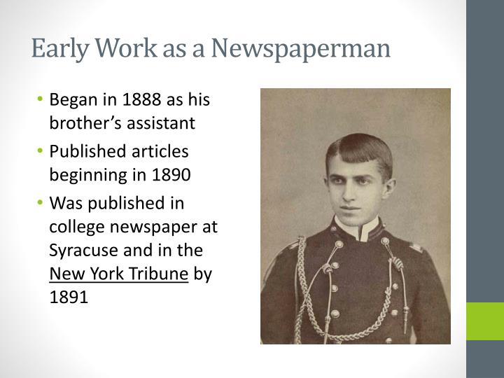 Early Work as a Newspaperman