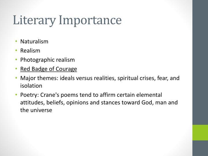 Literary Importance