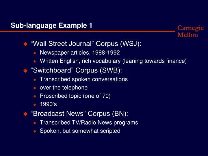 Sub-language Example