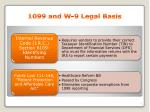 1099 and w 9 legal basis