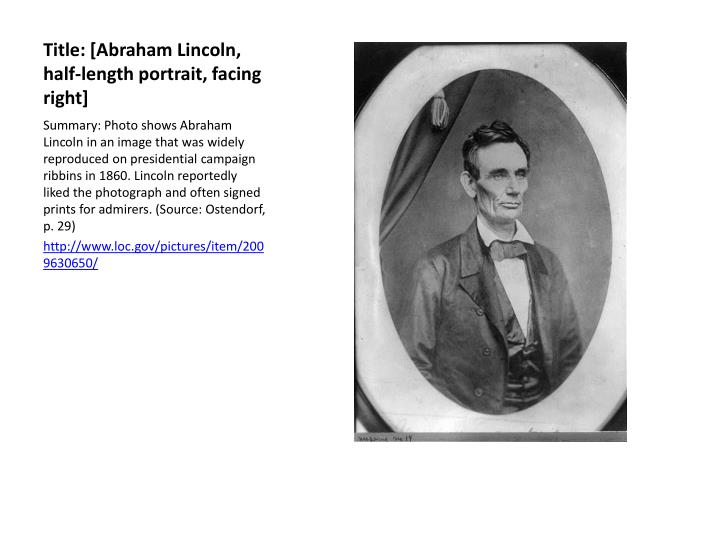 Title: [Abraham Lincoln, half-length portrait, facing right]