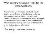what country was given credit for the first newspaper