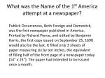 what was the name of the 1 st america attempt at a newspaper