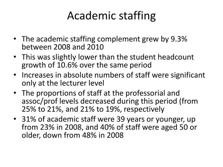 Academic staffing