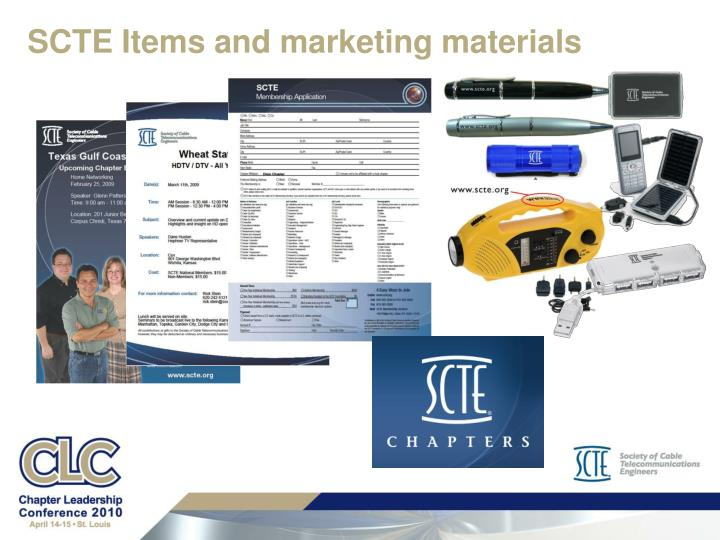 SCTE Items and marketing materials