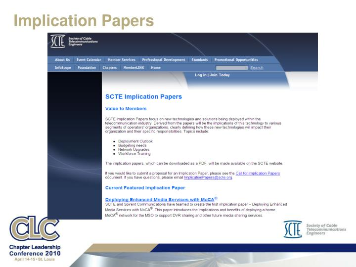 Implication Papers