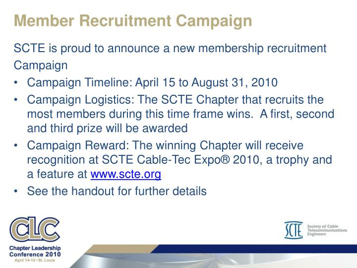 Member Recruitment Campaign
