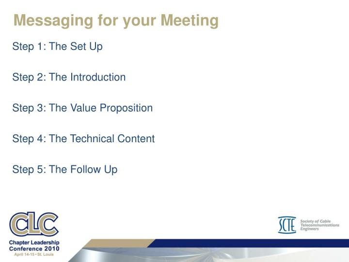 Messaging for your Meeting