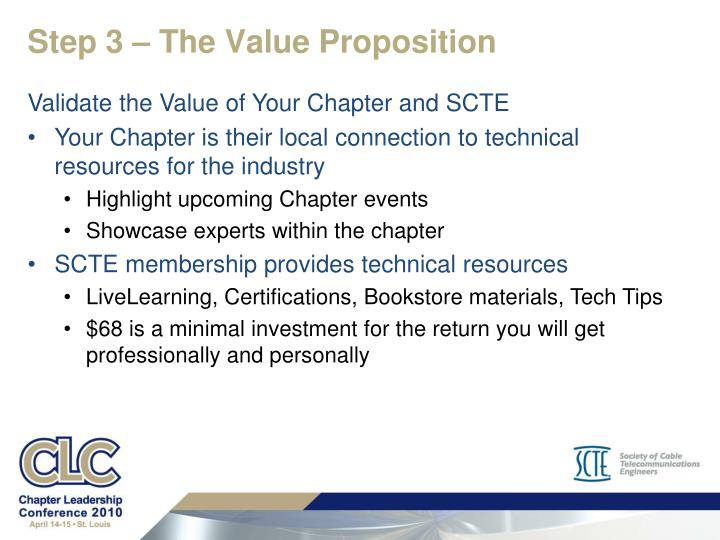 Step 3 – The Value Proposition