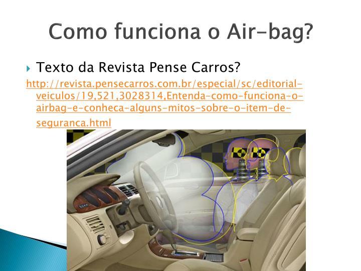 Como funciona o Air-bag?