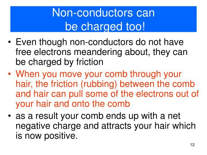 Non-conductors can