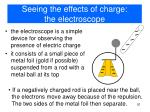 seeing the effects of charge the electroscope
