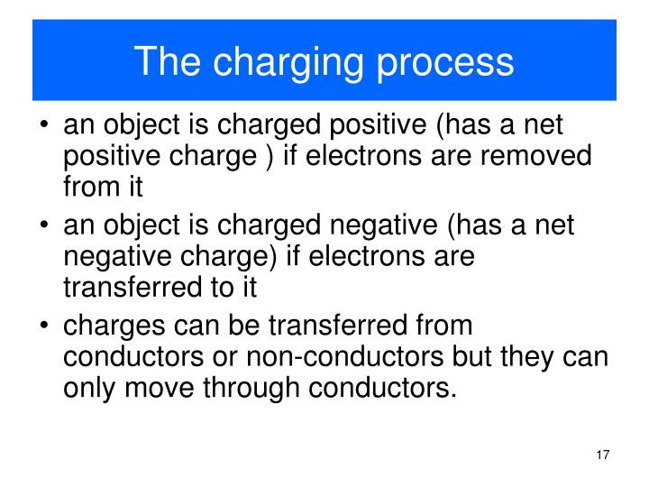 The charging process