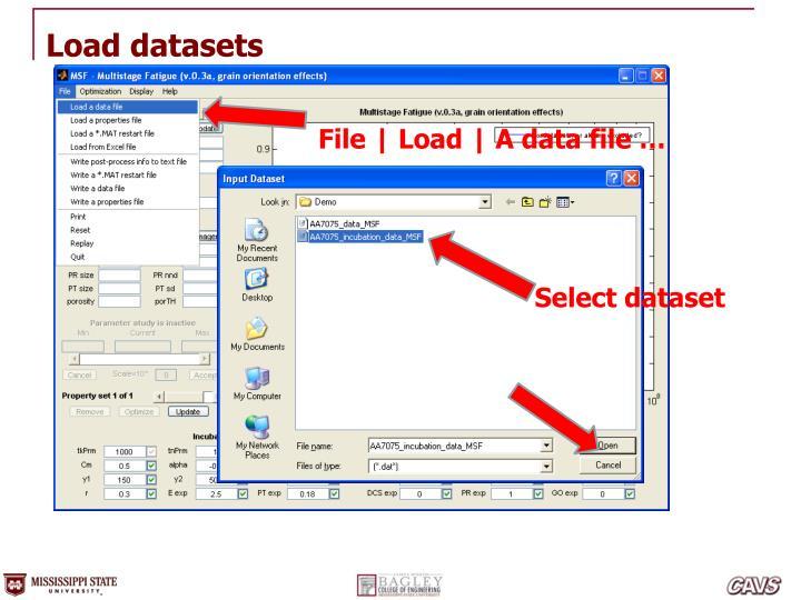 Load datasets