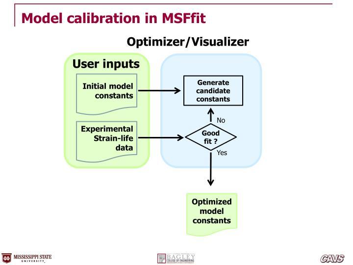 Model calibration in