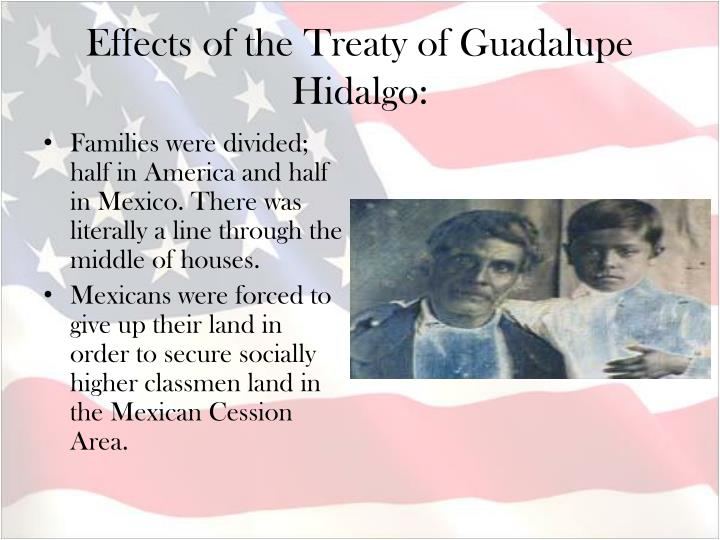 Effects of the Treaty of Guadalupe Hidalgo: