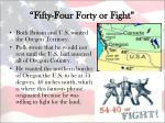 fifty four forty or fight