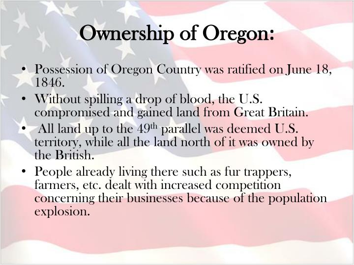 Ownership of Oregon