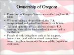 ownership of oregon