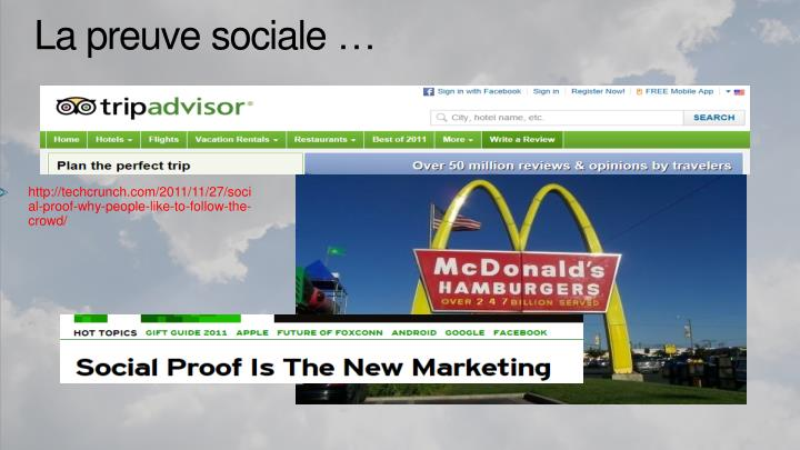 http://techcrunch.com/2011/11/27/social-proof-why-people-like-to-follow-the-crowd/