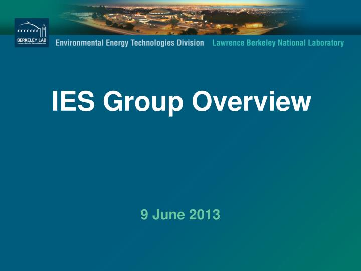 ies group overview