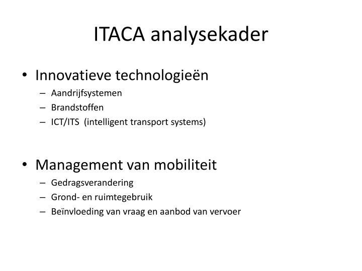 ITACA analysekader