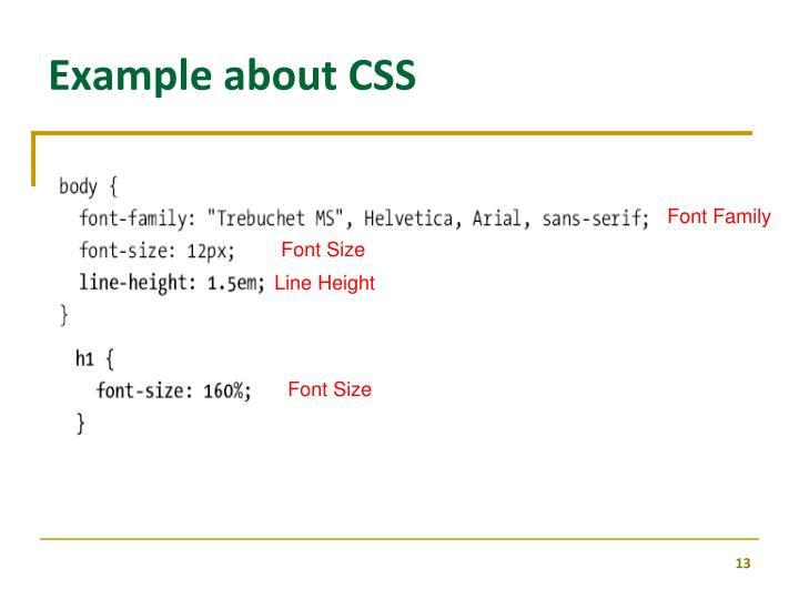 Example about CSS