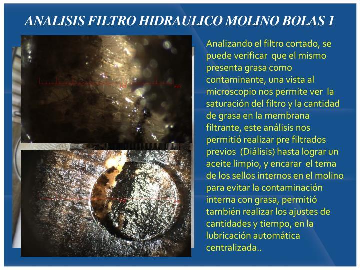 ANALISIS FILTRO HIDRAULICO MOLINO BOLAS 1