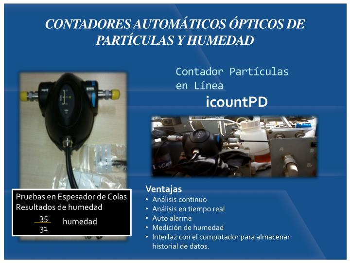 CONTADORES AUTOMÁTICOS ÓPTICOS DE
