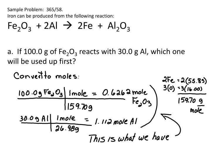 Sample Problem:  365/58.