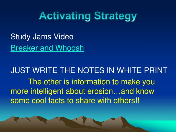 Activating Strategy