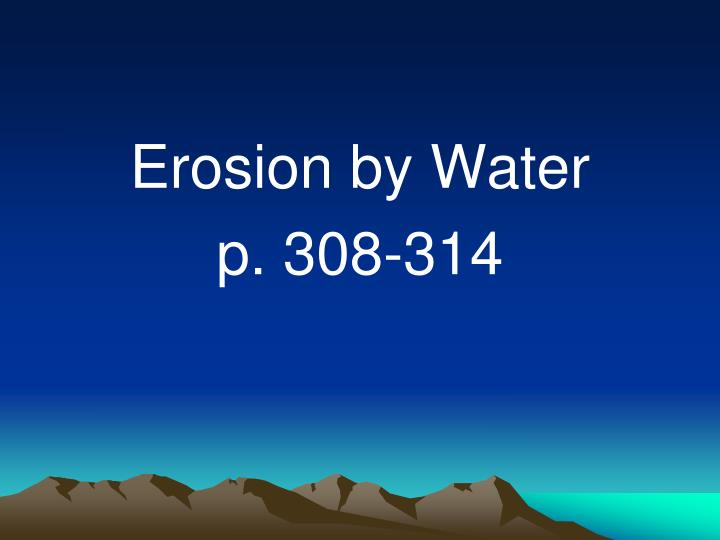 Erosion by Water
