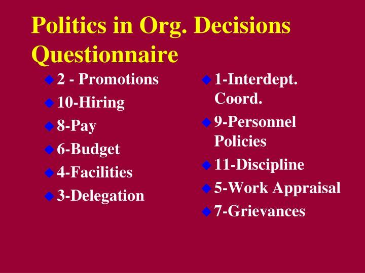 promotion questionnaire