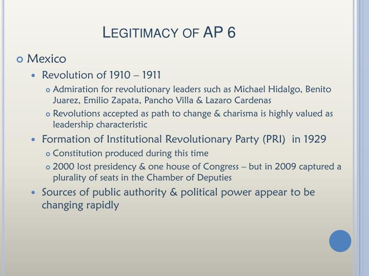 Legitimacy of AP 6