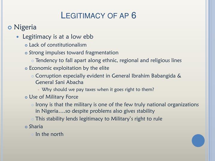 Legitimacy of