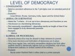 level of democracy