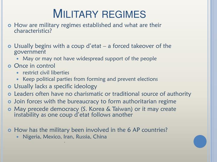 Military regimes