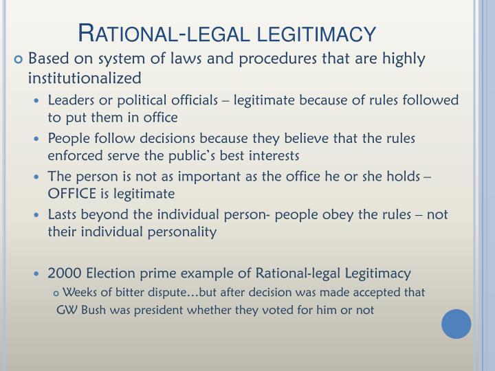 Rational-legal legitimacy