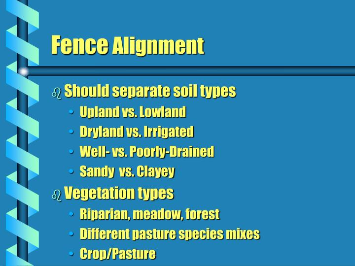 Should separate soil types