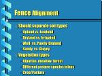 fence alignment