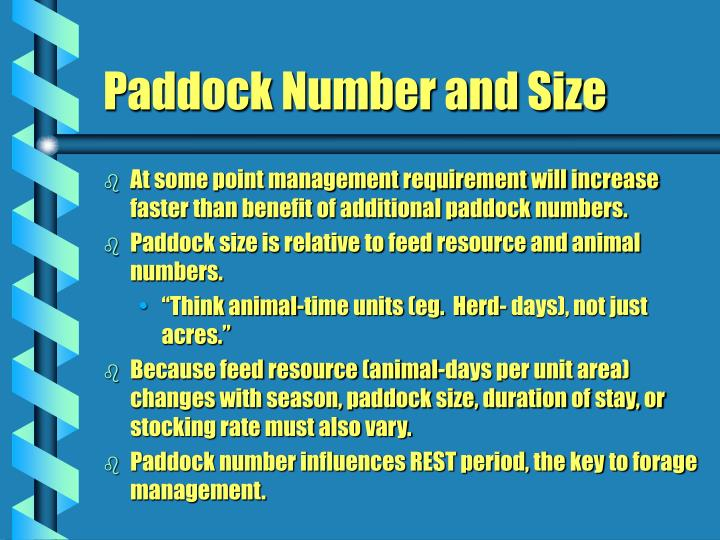 At some point management requirement will increase faster than benefit of additional paddock numbers.