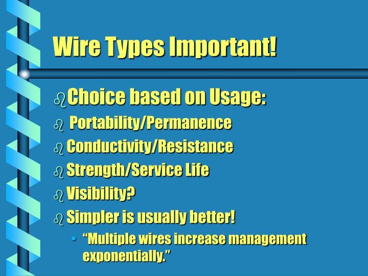 Choice based on Usage: