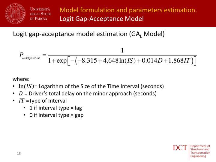 Model formulation and parameters estimation.