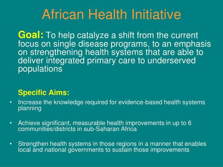 African Health Initiative