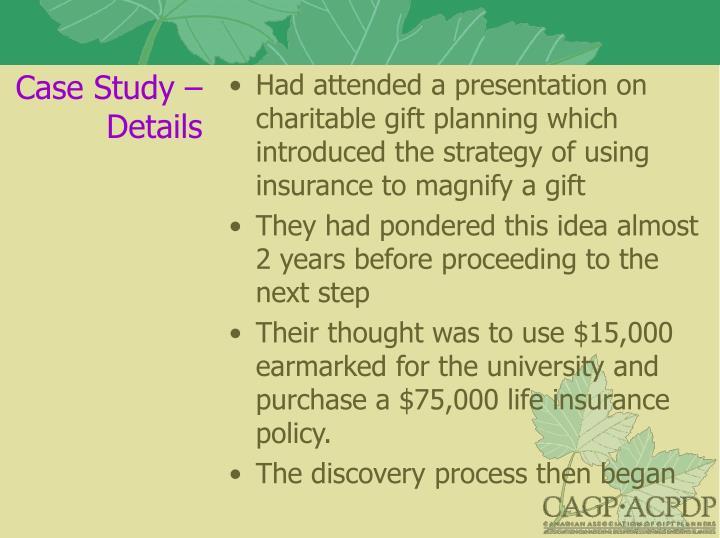 Case Study – Details