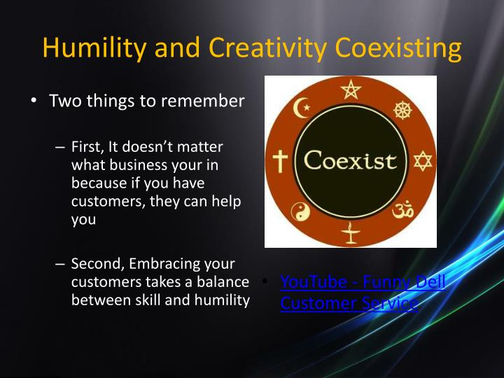 Humility and Creativity Coexisting