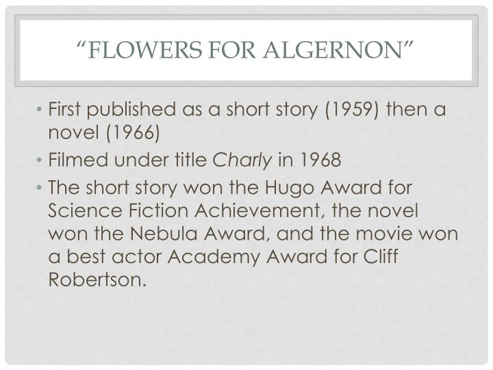 Flowers for algernon1