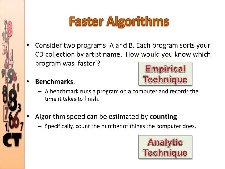Faster Algorithms
